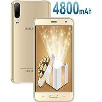 Moviles Libres Baratos 4G Android 9.0, J5+(2019) 16GB ROM/128GB Extensión 5.5 Pulgadas Full-Screen 4800mAh Cámara 8MP+5MP Smartphone Libre Quad-Core Dual SIM GPS Bluetooth Moviles baratos y buenos Oro