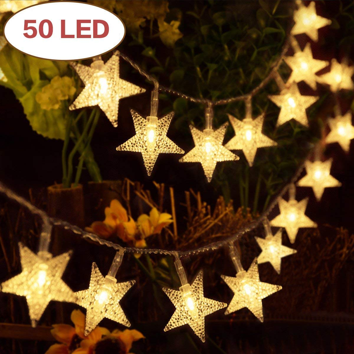 50 LED Globe Fairy Lights, 16 Feet Battery Operated Globe String Lights Starry Lights for Home Party Birthday Garden Festival Wedding Indoor Outdoor Use (Battery Powered) (Battery Powered 50 led) Fansheng