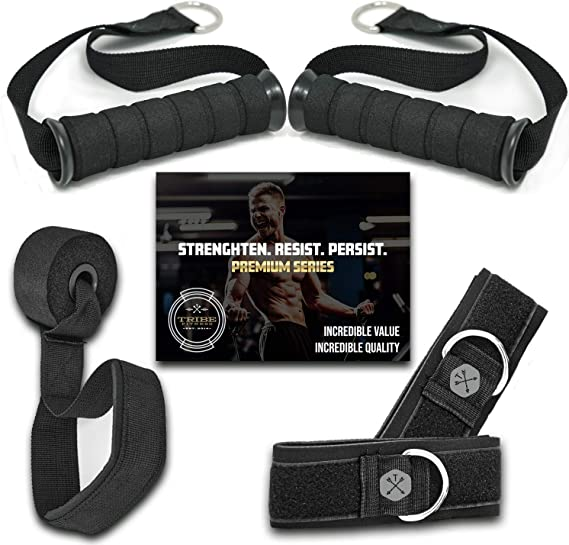 Workout Men with... Details about  /TRIBE PREMIUM Resistance Bands Set for Exercise