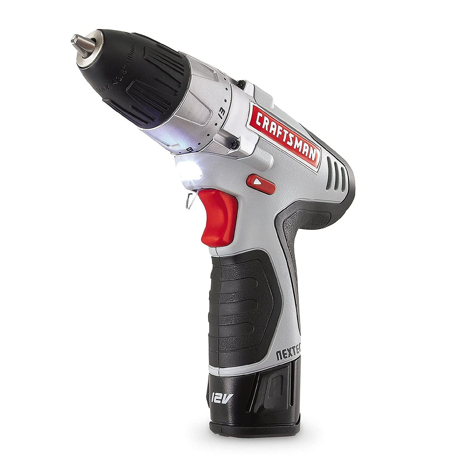 Craftsman N17586 NEXTEC 12.0V Lithium Ion Drill Driver Kit with Ergonomic Handle and ENERGY STAR Qualified