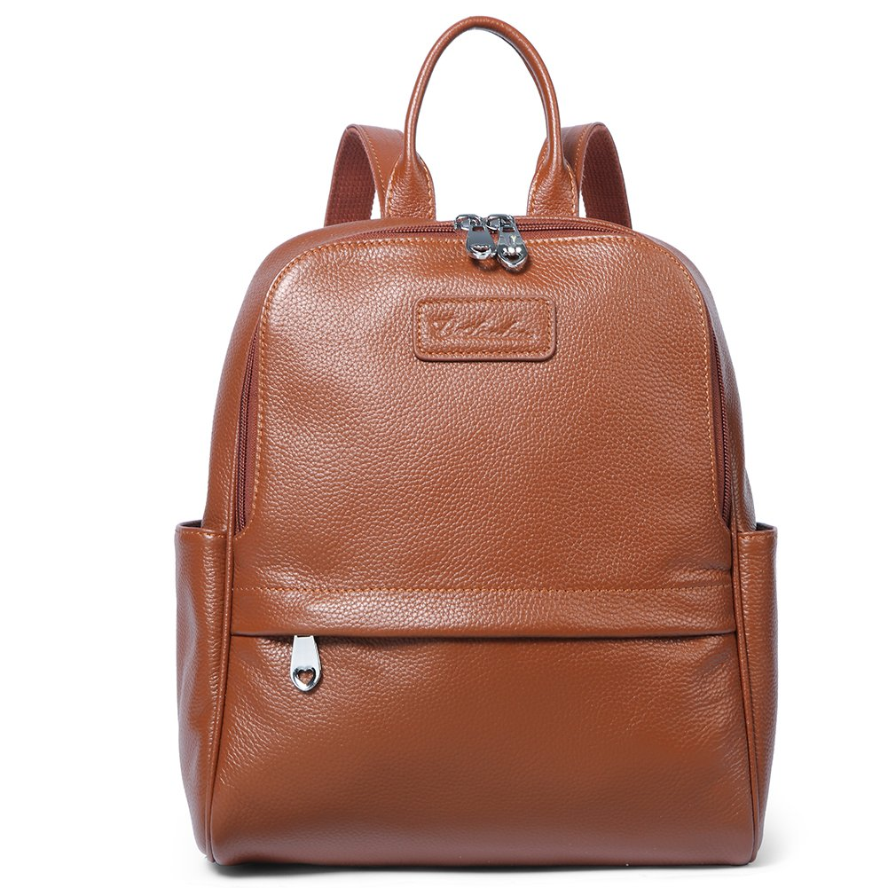 2d774024bd BOSTANTEN Women Genuine Leather Backpack Rucksack Ladies Casual Daypacks  Shoulder Bag Purse School Satchel for College