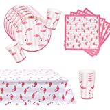Flamingo Party Supplies Tableware set for 16 with Tablecloth
