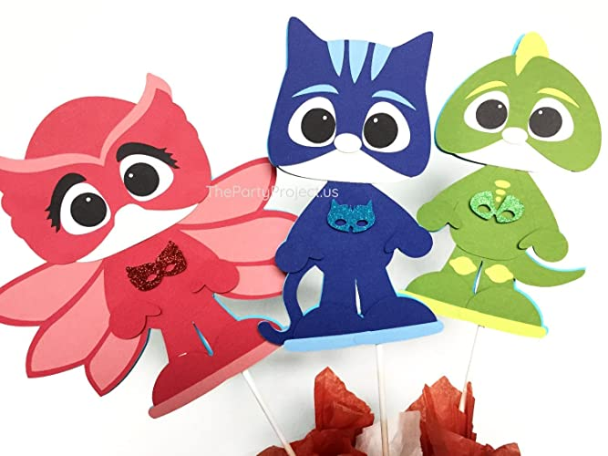 PJ Masks centerpiece | PJMasks birthday party decorations