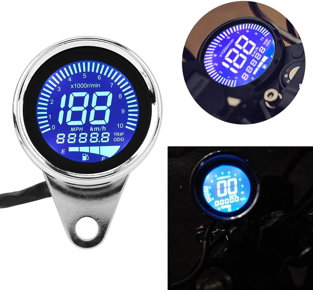 160KM//H Digital Speedometer LCD Speedometer 100/% Brand New Clear Lens Color Universal for All Motorcycles with 12V Power Supply