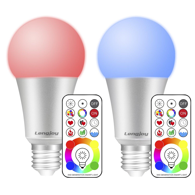 Lengjoy 10W RGB Bombillas Led, E27 LED Colores Cambiantes Lampara,Casa Decoració n Bar Fiesta KTV Ambiente Ambiance Iluminació n (1 pack) Casa Decoración Bar Fiesta KTV Ambiente Ambiance Iluminación (1 pack)