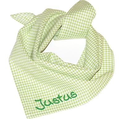 Pañuelo cuadros con nombre personalizable, diseño de cuadros, toalla – Pañuelo triangular, Baby