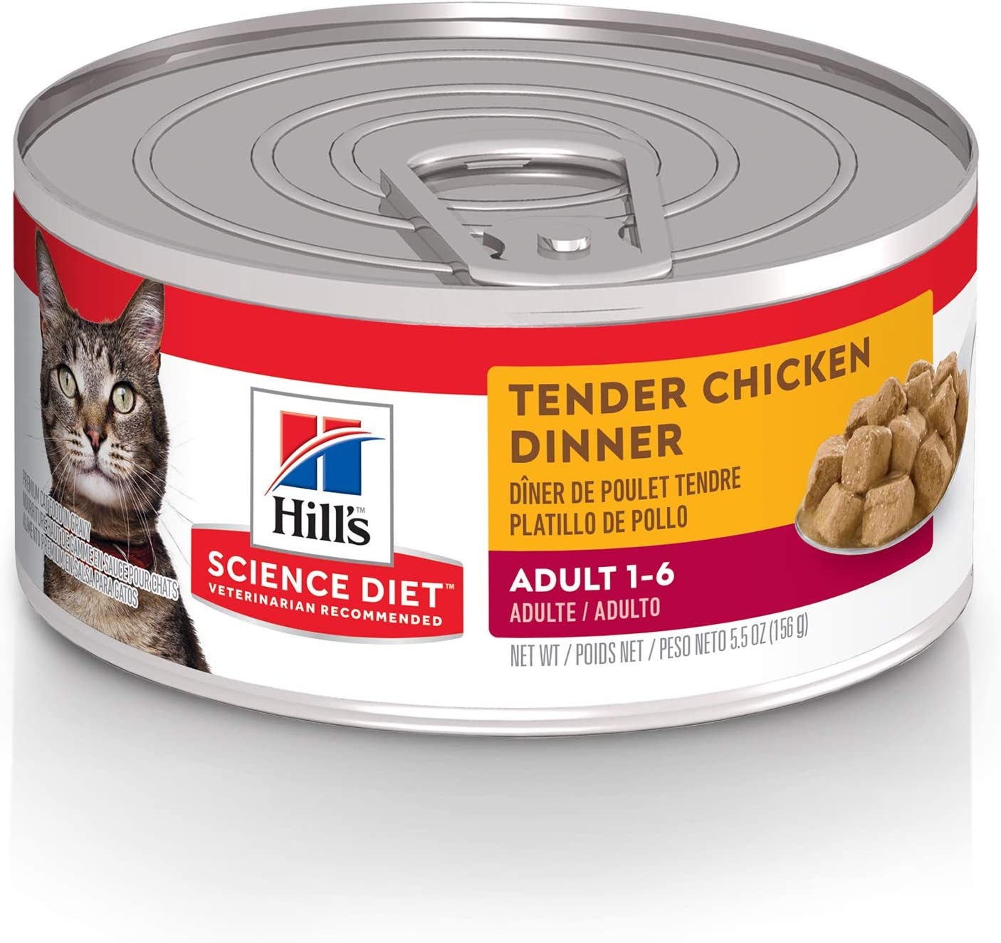 Hill S Science Diet Canned Wet Cat Food Adult Tender Chunks Gravy Recipes 5 5 Oz Cans Pack Of 24 Canned Wet Pet Food Pet Supplies