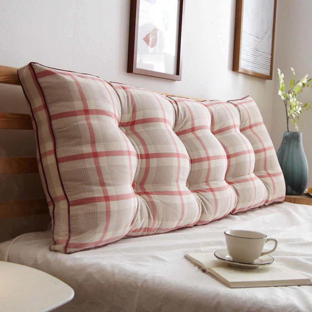 YANFEI Cuscino sfoderabile Soft Protection Vita Doppia testata letto Cuscino per lettino posteriore (colore a scelta multipla, misura più scelta) (Colore : A, dimensioni : 90*50*20CM)