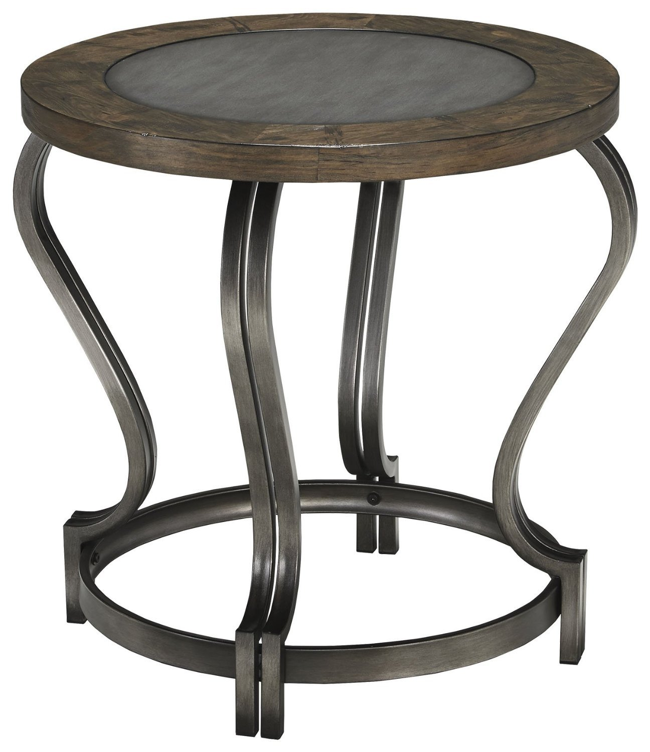 style home table adjustable height round furniture end magnussen tables industrial with by products