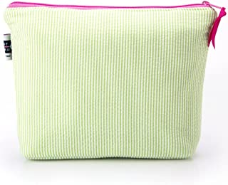 product image for Seersucker Cosmetic Bag- Lime Green