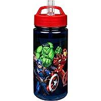 Scooli AVER9913 Aero drinkfles van kunststof met geïntegreerd rietje en drinkstop, Marvels The Avengers, BPA en…