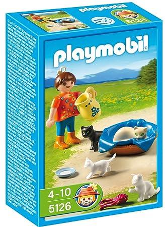 Playmobil - Granja Familia De Gatos C/Niña (5126): Amazon.es: Juguetes y juegos