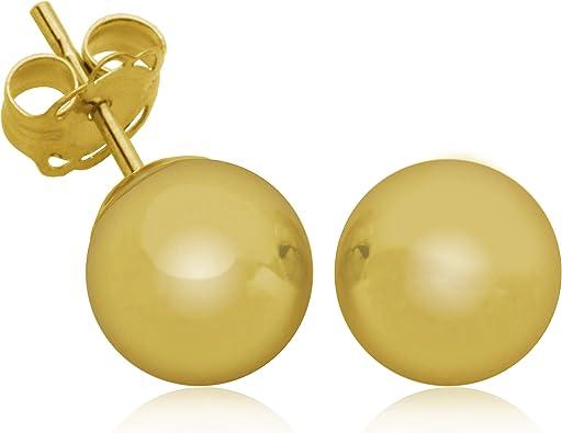 14K Gold 7mm Ball Stud Earring