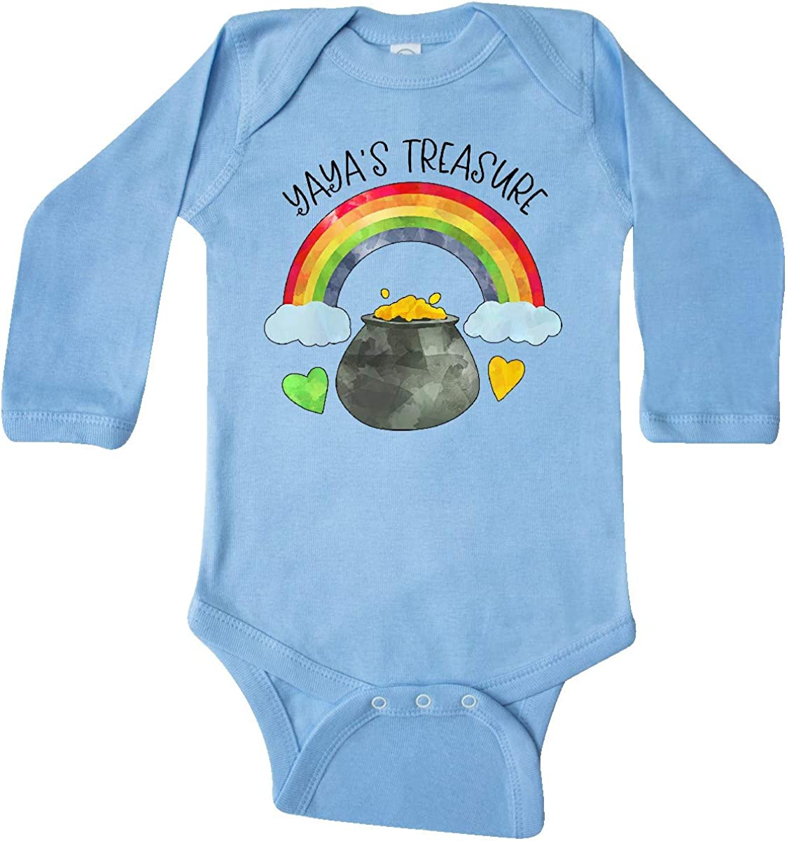 Patricks Day Rainbow and Gold Long Sleeve Creeper inktastic Yayas Treasure St