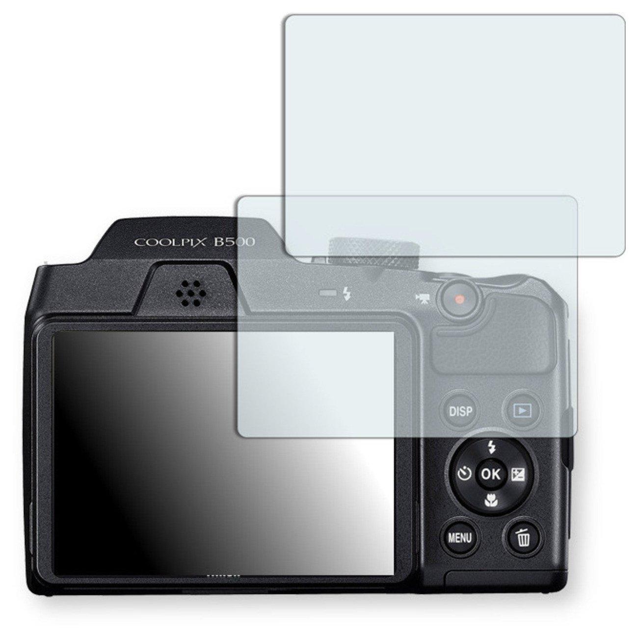 2X Golebo Anti-Glare Screen Protector for Nikon COOLPIX B500 (Anti-Reflex, Air Pocket Free Application, Easy to Remove)