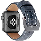 Kobwa Replacement Armband Strap Leder 38mm/42mm Für Apple Watch, Lederarmband Für Apple IWatch Sport Nike Edition Series 1 and Series 2