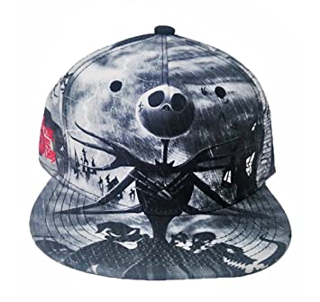 419f1bbb582 Image Unavailable. Image not available for. Color  The Nightmare Before  Christmas Jack Sublimated Snapback Baseball Cap