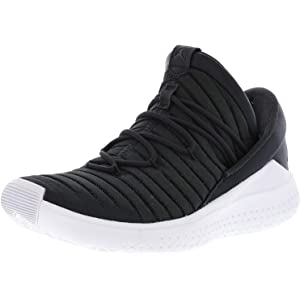 official photos 1f2c0 40848 Nike Men s Jordan Flight Luxe Anthracite Black-White Ankle-High Fabric  Basketball Shoe