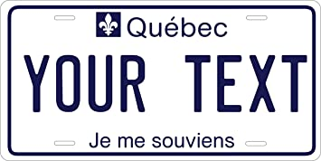 quebec custom personalized tag vehicle car moped bike bicycle