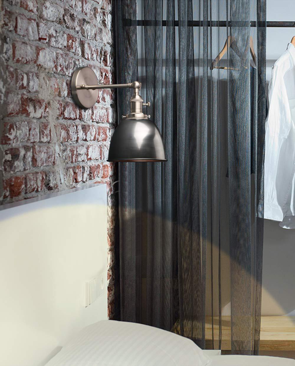 Phansthy 2 St/ücke Deckenhalbkreis mit Metall-Schirm Wandbeleuchtung Wandleuchten Vintage Industrie Loft-Wandlampen Antik Deko Design Wandbeleuchtung K/üchenwandleuchte Wei/ß