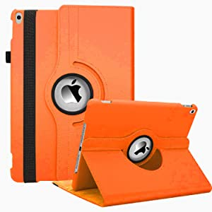 "iPad Air 3 Case 2019(3rd Gen)/iPad Pro 10.5 2017 Case,360 Degree Rotating Stand Smart Cover with Auto Wake Up/Sleep Feature for Apple iPad 10.5"" Case (A2152/A2123/A2153/A2154 / A1701/A1709)(Orange)"
