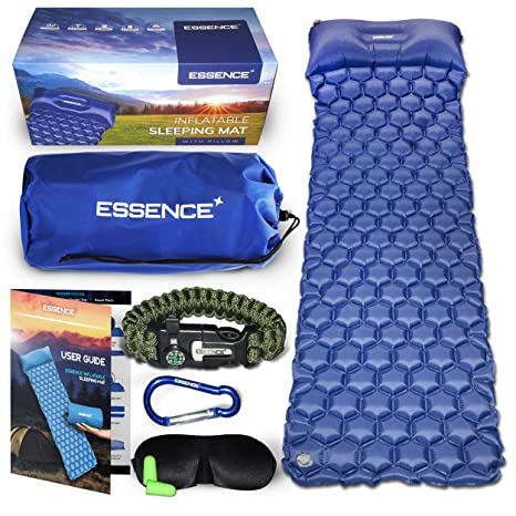 essence Camping Mat - Ultraligero autoinflable dormir colchón ...