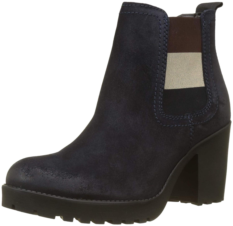 Blau (Midnight 403) Hilfiger Denim Damen Essential Mid Heel Chelsea Stiefel