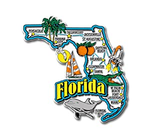 Florida State Jumbo Map Magnet
