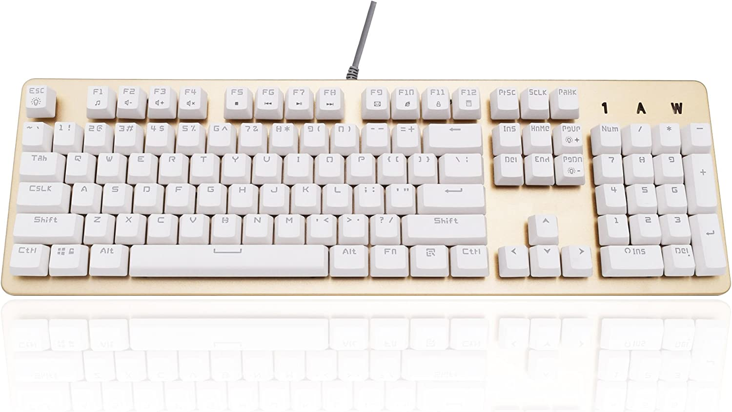 SR Gaming Keyboard Backlight Metal Cover Wired USB Mechanical Touch Big Size Heavy Weight