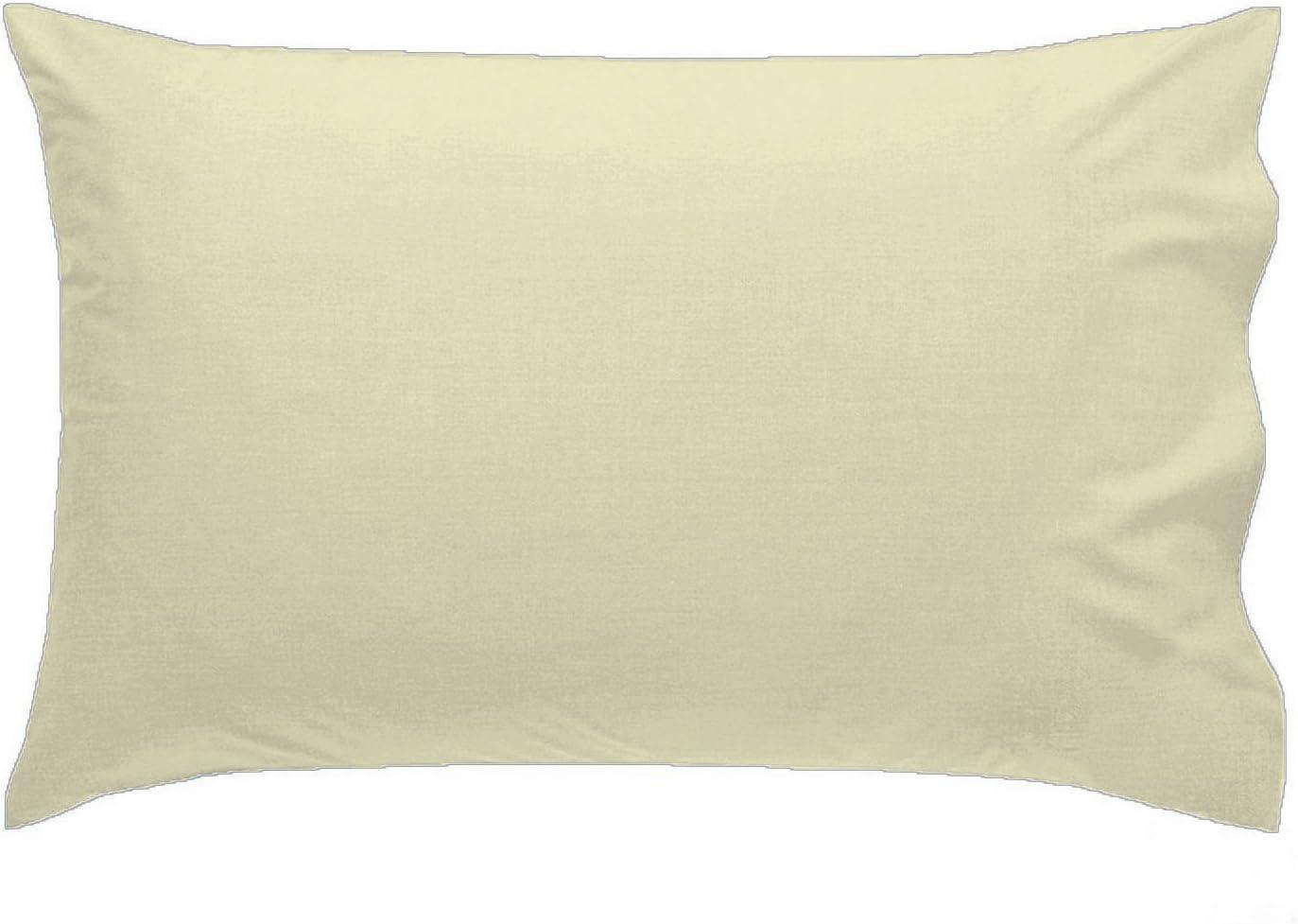 Black R/&Z Plain Dyed Polycotton Housewife New 2 x Pillow Cases