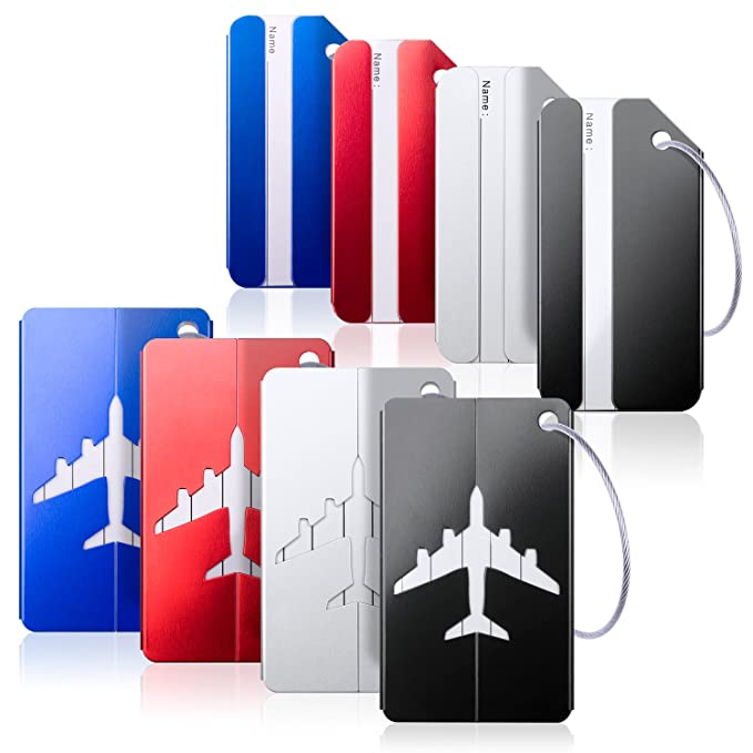6594c478d8af Luggage Tags, Bag Tag Travel ID Labels Tag For Baggage Suitcases Bags,8  Pack By Aootech