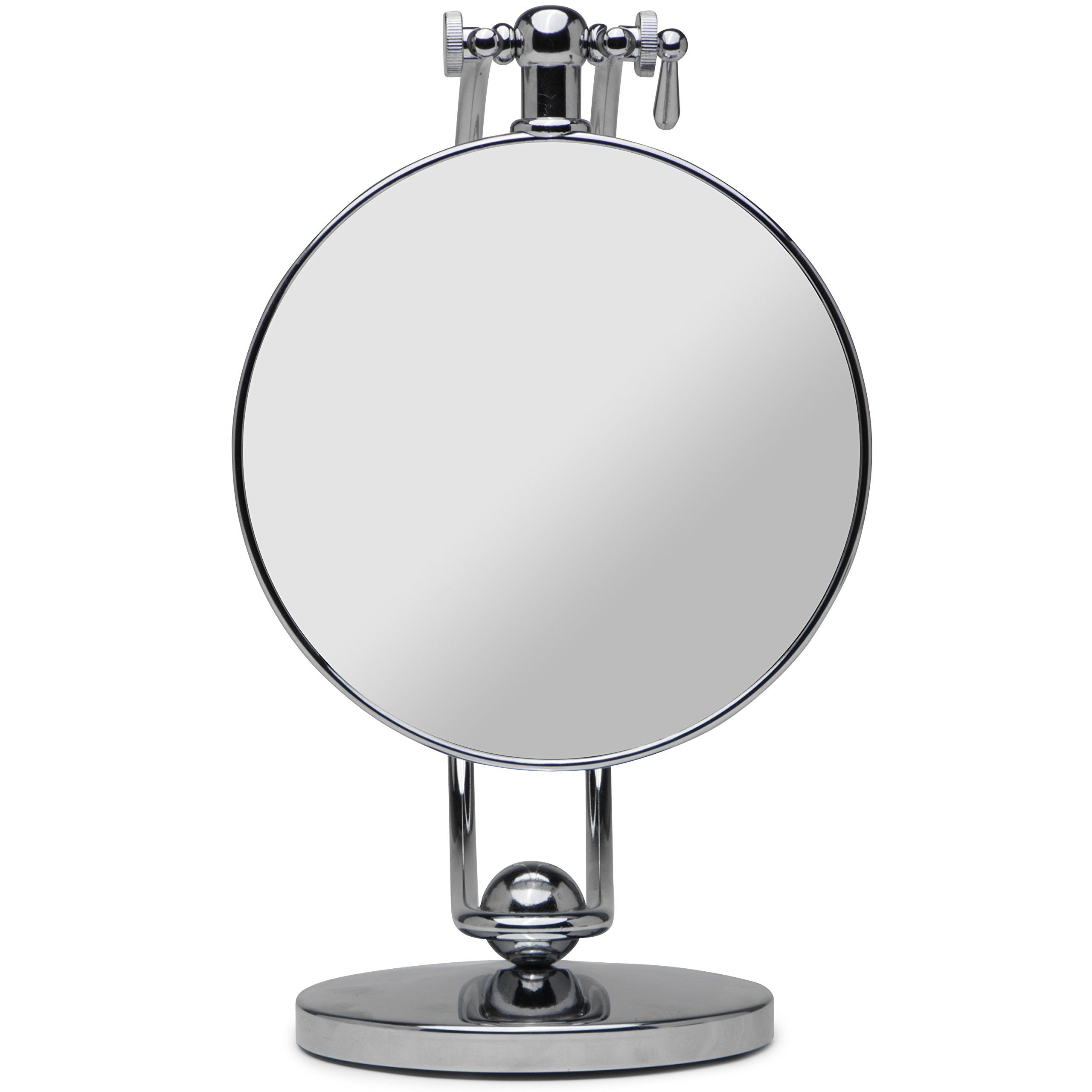 Mirrorvana VISION-360 Swivel Vanity Makeup Mirror with 1x & 7x Magnification | 360° Rotating Angle and Height Adjustable Cosmetic Mirror, 7-Inch