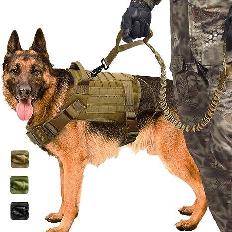 Mustbe Strong Arnés Táctico Militar para Perros K9 Chaleco para ...