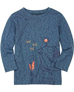 Sizes 18M-6 Deux par Deux Little Boys Hooded T-Shirt in Blue Go Mecano