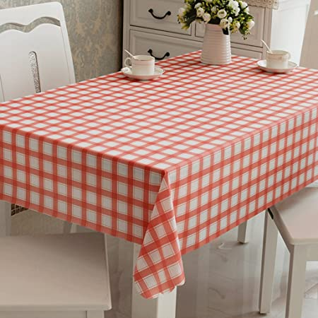 Lovely Scottish Style Plaid Pvc Waterproof Rectangular Tablecloth ...
