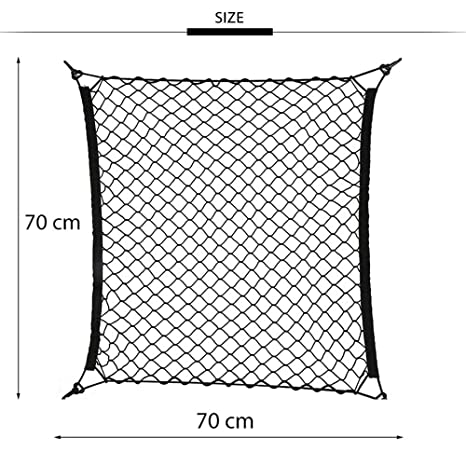 KYJ Cargo Net Car Roof Luggage Net Freight Transport Net Belt Hook Elastic Net 70cm X 70cm
