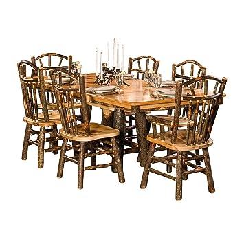 Amazon.com: tressle conjunto de comedor de mesa con 6 Wagon ...