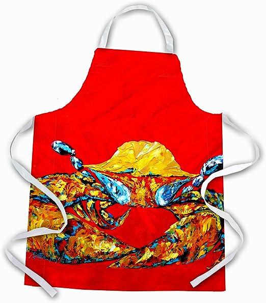 Multicolor Large Carolines Treasures MW1115APRON Crab Fat And Sassy Apron