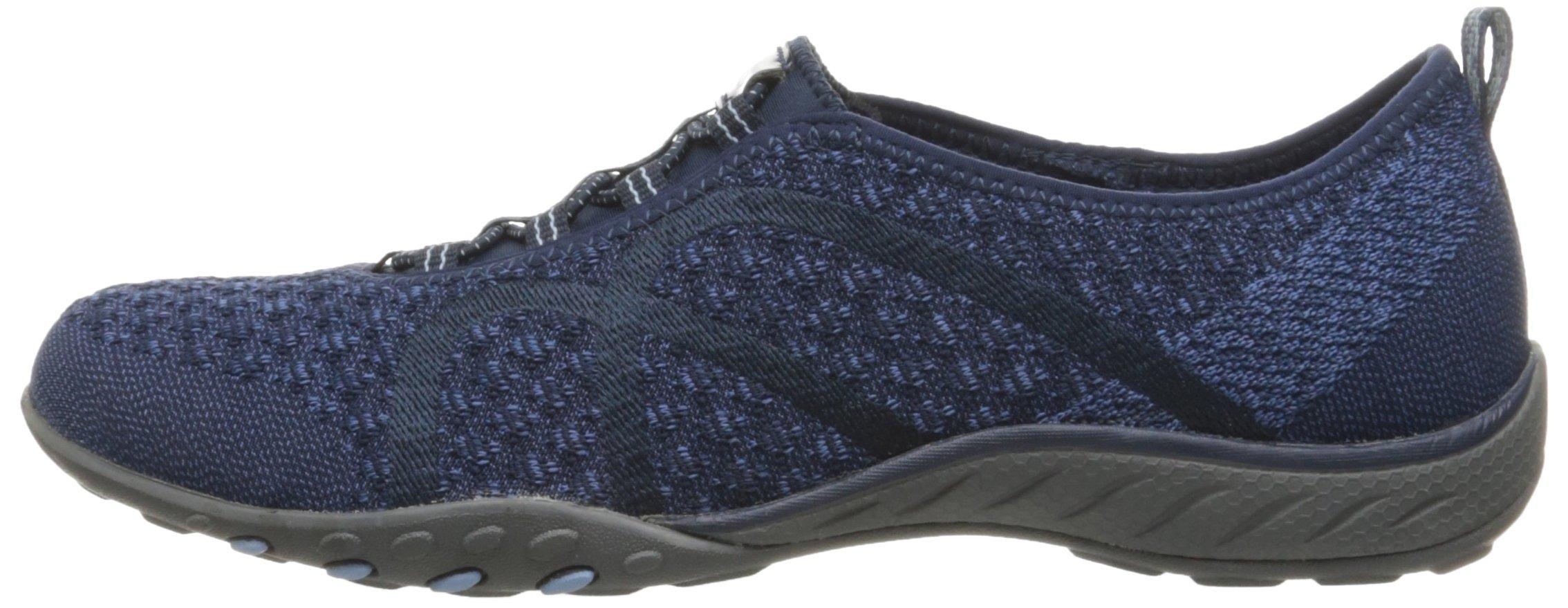 Skechers Sport Women's Breathe Easy Fortune Fashion Sneaker,Navy Knit,5.5 M US by Skechers (Image #5)