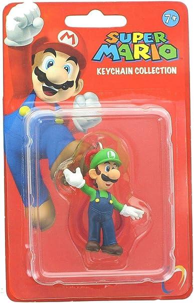 Amazon.com: Nintendo Super Mario Luigi Llavero Figura: Toys ...