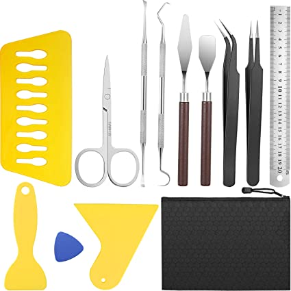 Lettering 18 Pieces Craft Weeding Tools Silhouette Vinyl Tools Set Craft Basic Tool Kits for Weeding Vinyl Craft Projects Accessories Silhouettes