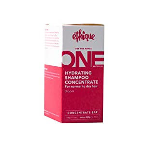 Ethique Hydrating Shampoo Concentrate Bar for Normal to Dry Hair- Bloom -pH Balanced, Sustainable Natural Shampoo, Plastic Free, Vegan, Compostable and Zero Waste, Makes 1 Bottle of Shampoo, 1.77oz.