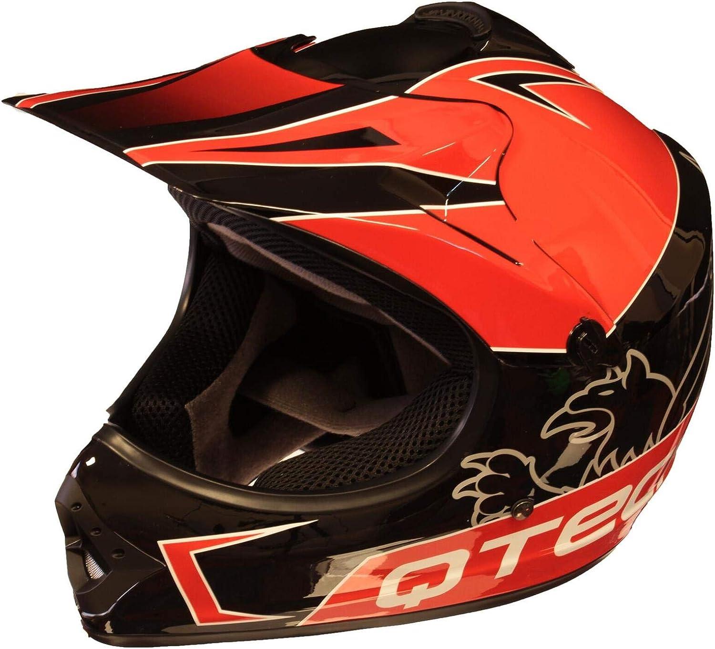 53-54cm Rosa S Casco Motocross per Bambino Moto Cross Enduro ATV MX BMX Quad Nero Lucidare