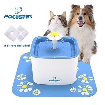Focuspet Fuente de Agua para Gatos, Fuente de Agua Fuente de Agua para Gatos Fuente