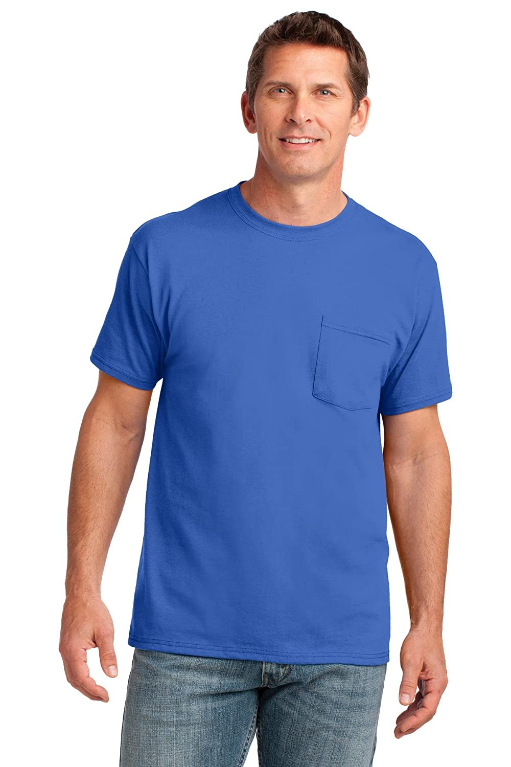 3978a827988f Style #: PC54P A chest pocket makes this classic value-priced tee even more  indispensable. 5.4-ounce 100% cotton Tag-free label Shoulder-to-shoulder  taping ...