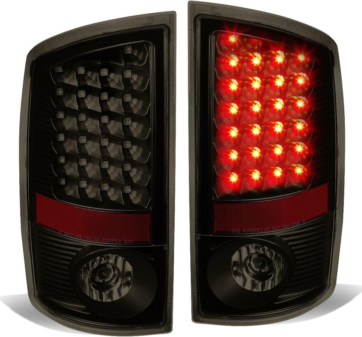 3D LED C-Bar Fit 2007-2009 Dodge Ram Pickup Chrome Red Tail Light Brake Lamp