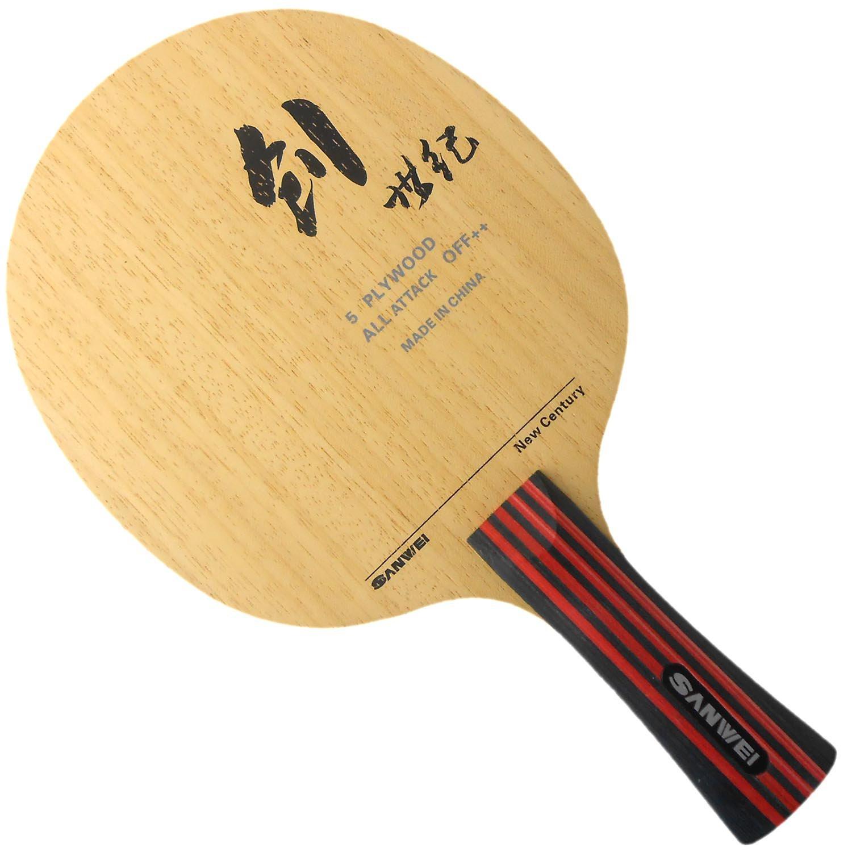 Sanwei CS Table Tennisブレード、ロング( Shakehand ) -fl   B00OR796ZC