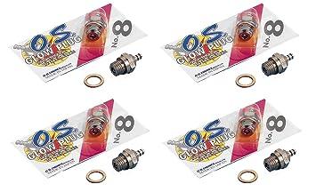 Set 4 unidades bujia Os numero 8, apta para motores de explosion Glow: Amazon.es: Juguetes y juegos