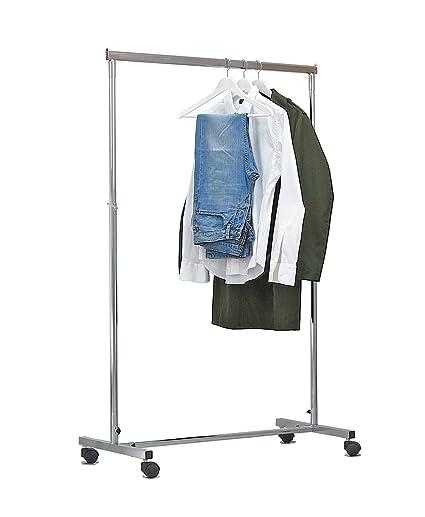 stand perchero para casetas armario con barra appenderia de cm 100 + 70 ajustable (Altura