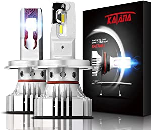 KATANA H4 9003 LED Headlight Bulbs - CREE Chips w/Adjustable Beam - 12000Lm 6500K Extremely Bright Conversion Kit